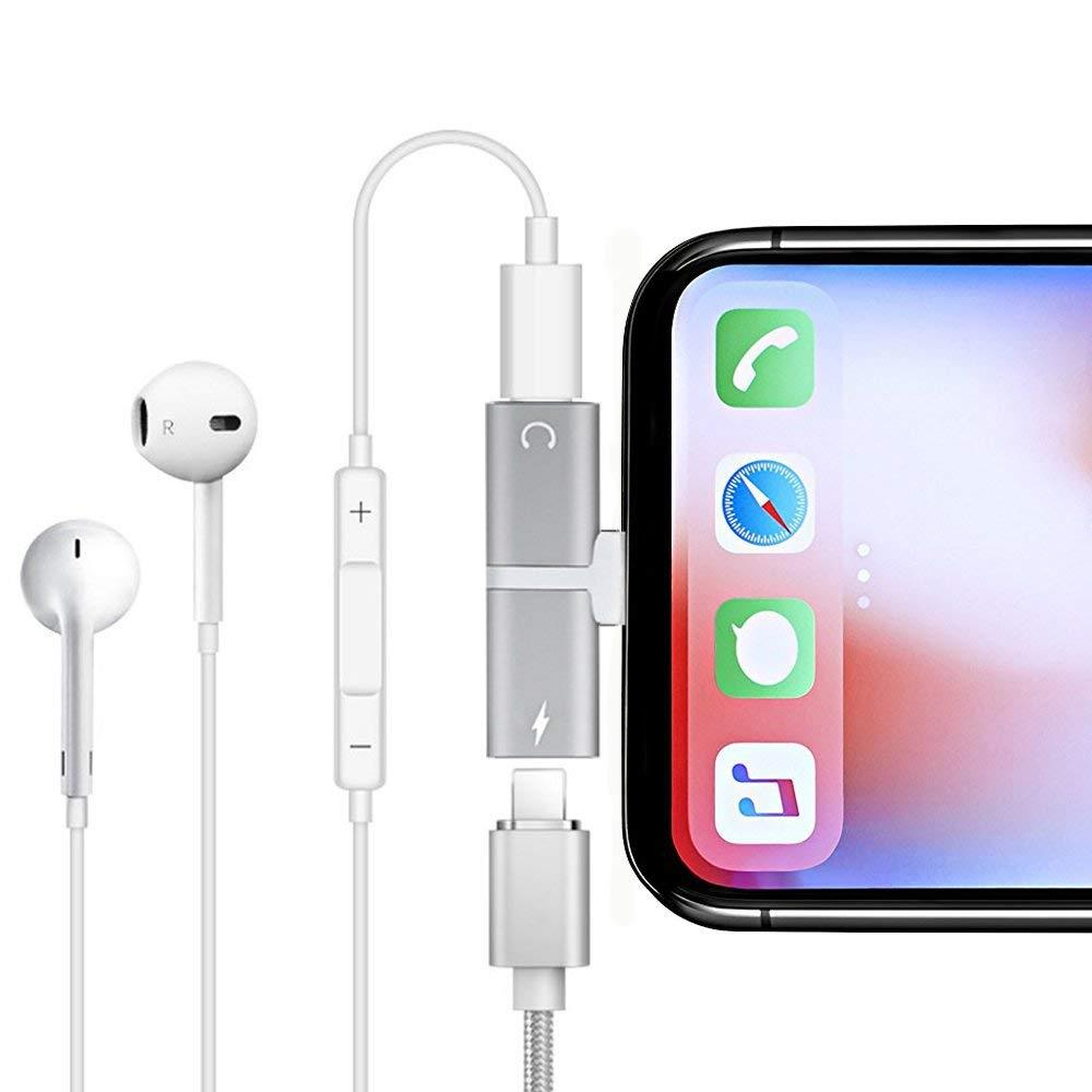 Apple iphone 7 , 8, X Plus Lightning Kulaklık Şarj Çoklayıcı ile ilgili görsel sonucu